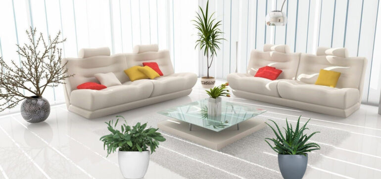 Pots and Plants for an Interior Garden